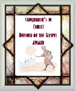 Defense of the Gospel award